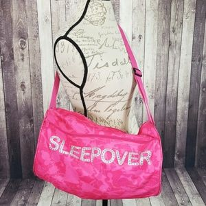 3C4G hot pink embellished sleepover duffel bag